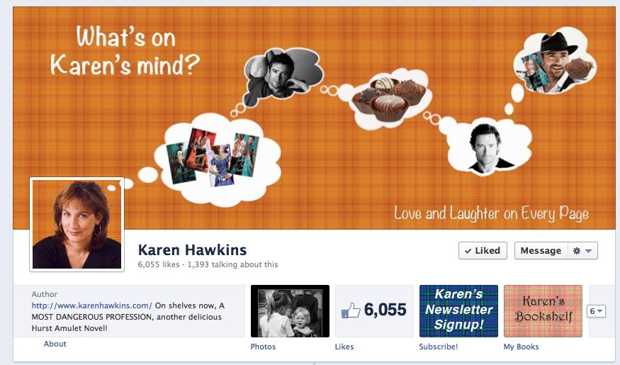 Karen Hawkins Facebook cover image